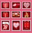 Valentine day postage set vector image