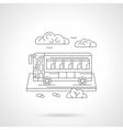 Passenger bus detailed line vector image