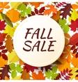 Autumn seasonal sale label vector image vector image