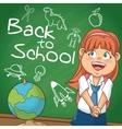 Girl kid of back to school design vector image