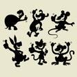 Thumbs up cartoon animals vector image vector image