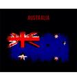 Grunge australian flag vector image