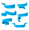 blue ribbon patterns vector image