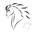 stylized head horse vector image