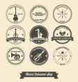 Musical Instrument Shop Vintage Label vector image
