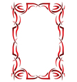 Gothic vertical frame on a white background Tribal vector image