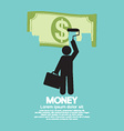 Businessman Painting Banknote vector image vector image