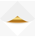 gold memo vector image