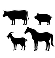 animals farm domestic icon vector image
