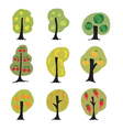Garden fantasy trees set vector image