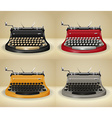 Retro typewriters on grunge background vector image