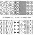 Seamless Geometric Pattern Set Ten Tiled vector image