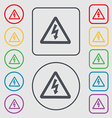 voltage icon sign symbol on the Round and square vector image