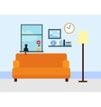 Sitting room in flat style vector image