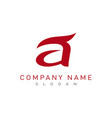 letter a logo 2 vector image vector image