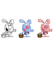 Jack rabbit easter cartoon vector image vector image