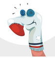 sock puppet character vector image