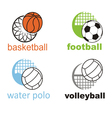 signs and symbols of sports ball vector image vector image