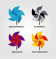 Set of color schemes vector image