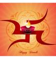 diwali greeting card vector image