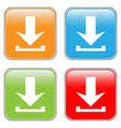Arrow icon download set vector image