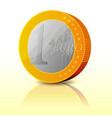cartoon simple euro coin vector image