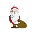 clip art santa cartoon vector image