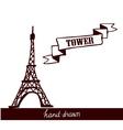 Eiffel Tower sketch vector image
