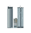 flat business building icon vector image