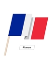 France Ribbon Waving Flag Isolated on White vector image