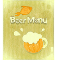 glass of beer and fish vector image