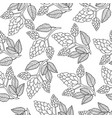 hops seamless pattern hand drawing doodle style vector image