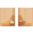 menu coffee shop and restaurant set vector image