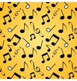Musical background seamles vector image