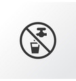 non potable water icon symbol premium quality vector image