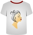 T Shirt Template- Hairstyle vector image