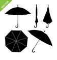 Umbrella silhouettes vector image