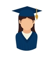woman graduate graduation education university vector image