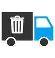 Rubbish Transport Van Flat Icon vector image
