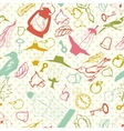 Seamless texture with doodle objects vector image