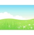 Beautiful green fields landscape vector image
