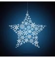 Christmas star snowflake design background vector image