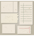 Pieces of old paper vector image