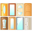 set isolated modern door for home interior vector image