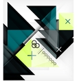 Geometric Template For Brochure  Booklet vector image