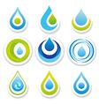 water logo set vector image