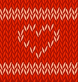2-red-knitted-heart vector image