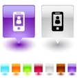 person square button vector image vector image