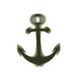 anchor icon colorful icon shaked with vector image