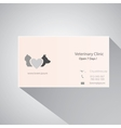 Calling card of veterinary clinic vector image